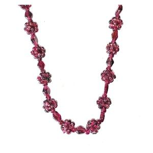 🍭VINTAGE GARNET RASPBERRY CLUSTER NECKLACE